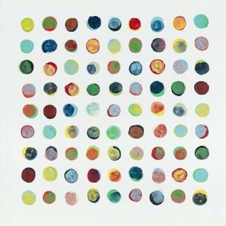 Stretched Canvas Print *Colorful Circles* Painting Wall Art Home