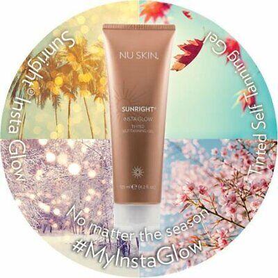 Self Tanning Gel Nu Skin Sunright Insta Glow Tinted Face Body NEW Sunless Tan