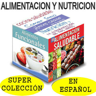 Nutritional Books Collection in Spanish- Libros Nutricion Español - PDF. Digital