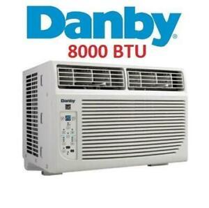 USED* DANBY AIR CONDITIONER DAC080BFCWDB 250290775 8000 BTU WINDOW MOUNTED REMOTE AC COOLING