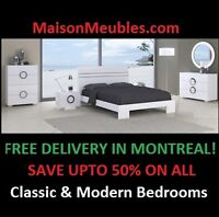 Classic or Modern Bedrooms Sets Liquidations