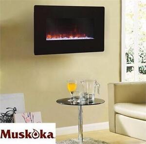 "NEW* MUSKOKA WALL MOUNT FIREPLACE MUSKOKA 25"" WALL MOUNT HOME DECOR FURNITURE ACCENTS ELECTRIC  92039420"