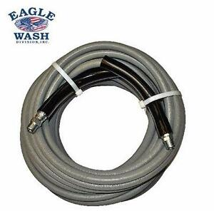 "NEW EAGLE PRESSURE WASHER HOSE 3/8"" GREY MODIFIED NITRILE PRESSURE WASHER HOSE ASSEMBLY 3/8"" NPT MALE PLUMBING 93375784"