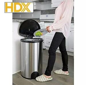NEW HDX AUTOMATIC LID TRASH CAN 50L AUTOMATIC SENSOR STAINLES STEEL 13 GALLON GARBAGE RECYCLING 73440334