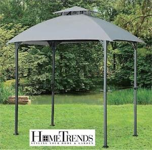 NEW HOMETRENDS GRILL GAZEBO (96.1 in. W x 59.8 in. D x 102.4 in. H) PATIO GARDEN BBQ BARBEQUE