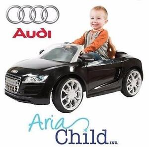 NEW OB ARIA AUDI R8 SPYDER RIDE ON   2.5MPH - BLACK - ARIA CHILD TOY CAR BATTERY POWERED - RIDE-ON 99261519