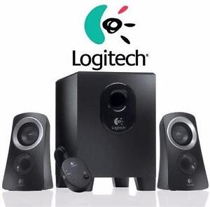 NEW LOGITECH SPEAKER SYSTEM   50W - STEREO SPEAKERS + SUBWOOFER - PC COMPUTER ACCESSORIES - ELECTRONICS  84410638