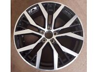"""4 x 18"""" Santiago style Black/Polished alloy wheels (brand new and boxed) 5x112 Volkswagen Golf etc."""