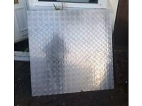 1000 x 1000 x 3 mm checker plate poss free delivery devon cornwall