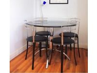 John Lewis Black Solid Granite table set with 4 chairs