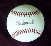 Stan Musial Signed Baseball PSA