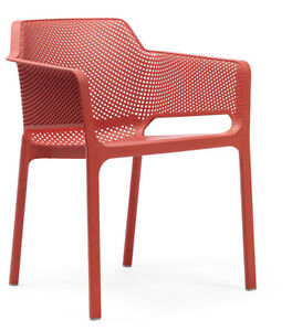 Nnardi Stackable armchair Made in Italy (red white black yellow)