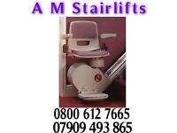 REDUCED!! £499 STAIRLIFTS FITTING & 1 YEAR WARRANTY, £499