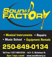 ***SOUND FACTORY*** GUITAR, PIANO,VIOLIN,VOCALS & DRUMS LESSONS