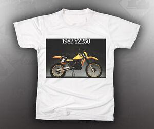 vintage yamaha 1982 yz250 brochure image shirt tshirt
