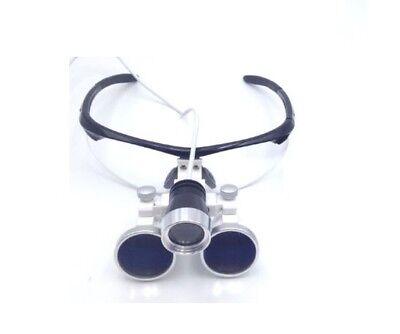 Dental Surgical Binocular Loupes Optical Glass 3.5x420mm Led Headlight Black