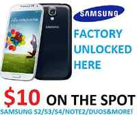 Instant On The Spot Samsung Unlock Service S2 S3 S4 & More !