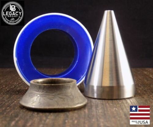 """17 DEGREE FOLDING CONE Coin Ring Tools 1/4"""" to 3/4"""" Hole Sizes FREE SHIP"""