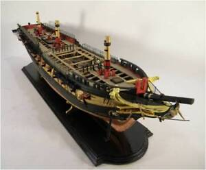 MODEL SHIPWAYS US Frigate Essex admiralty wood ship model kit NEW planked