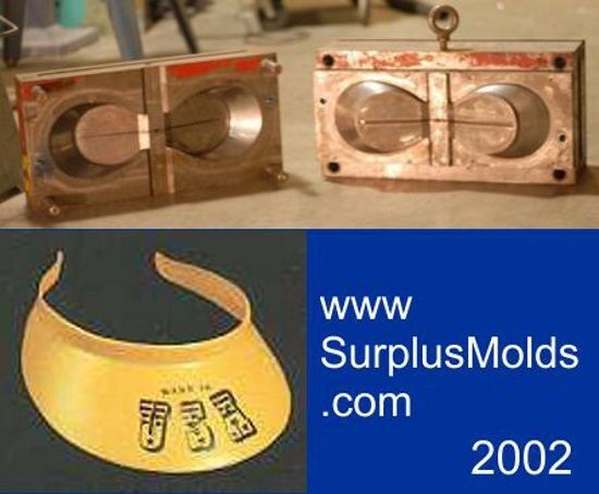 plastic injection mold, 2 cavity visor