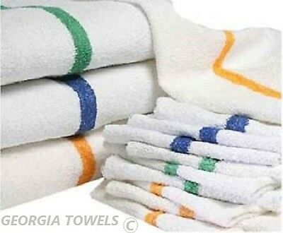 60 New Stripe Bar Mop Mops Restaurant Kitchen Cleaning Towel Blue Or Gold 32oz