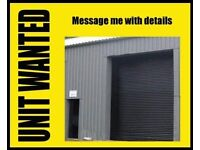 I am Looking for cheap warehouse / workshop / garage space up to 2500 sq ft