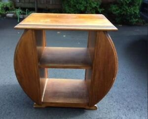 MAGAZINE RACK / TABLE  -- From the 40's or 50's   - -
