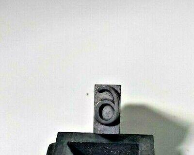 Antique Letterpress Print Block Lead Number 6 Stamp Character Type Set