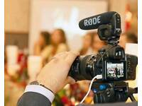 Freelance Videographer Event Cameraman Film Maker - Corporate Events, Weddings, Parties