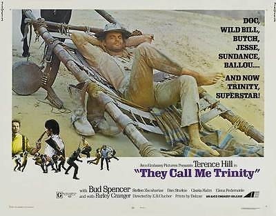 They Call Me Trinity Movie Poster 30X40 Terence Hill Bud Spencer Farley Granger