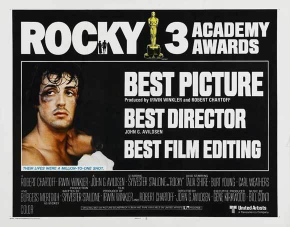 ROCKY Movie POSTER 22x28 Half Sheet Sylvester Stallone Talia Shire Burgess