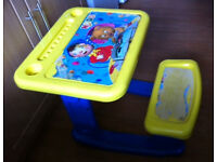 NODDY SIT & DRAW CREATIVITY TABLE for toddlers or pre school children + NODDY PUZZLE
