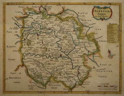 HEREFORDSHIREBY ROBERT MORDEN FOR COX'S MAGNA BRITANNIA CIRCA 1725.