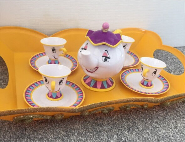 Beauty And The Beast Mrs Potts And Chip Tea Set Disney Store In