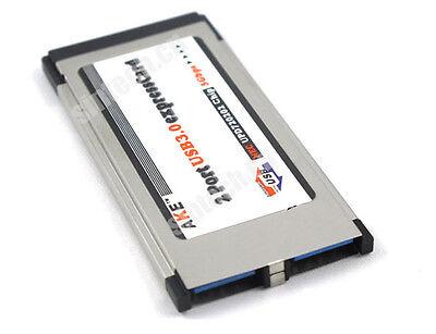 Express Card Expresscard Laptop 34mm to 2 Ports USB 3.0 Adapter converter NEC