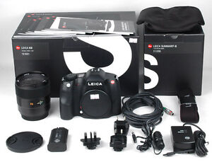 BNIB-Leica-S2-37-5-MP-Digital-SLR-Camera-Black-w-Summarit-S-70mm-2-5-ASPH-set