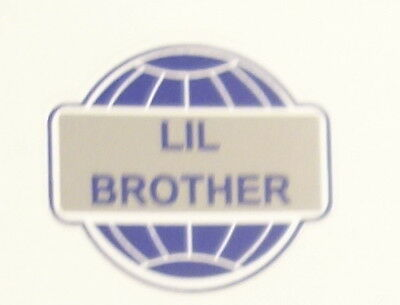 Set Of 2 Peel Of Decals Lil Brother Hit Miss Engine Model 4 12 Flywheels