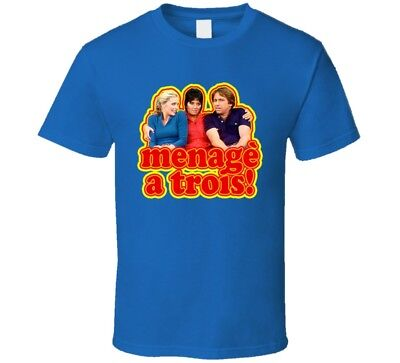 Threes Company Menage A Trois Funny Ritter   T Shirt