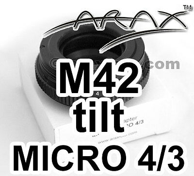 M42 Lens  To Micro 4 3 Camera  Camcorder  8  Tilt Adapter  New  Arax Warranty