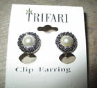 Trifari Pearl Fashion Earrings