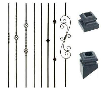 Twist Baluster (Satin Black Iron Balusters Iron Spndles Metal Stair Parts twist basket)
