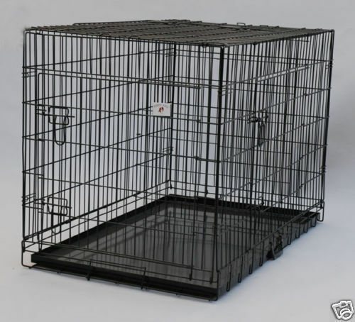 """NEW Extra Large 48"""" Folding Pet Dog Cage Crate Kennel With P"""