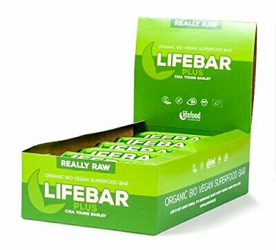 lifefood lifebar plus - Chia, Junge Gerste, 15er Pack (15 x 47 g) - Junge Gerste