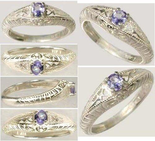 Handcrafted Sparkling Purple-Blue Tanzanite Kilamanjaro Tanzania Africa Sterling