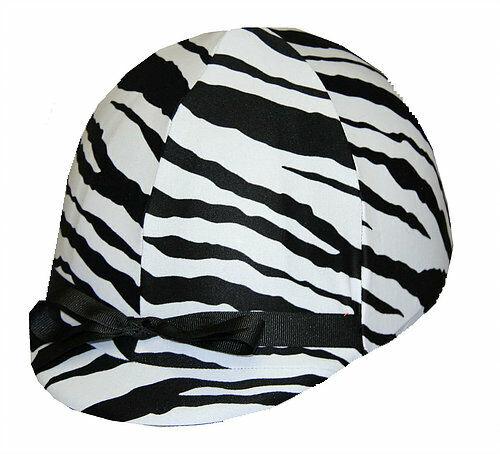 Zebra Print Horse Equestrian Riding Helmet Cover - Fits most helmets NEW