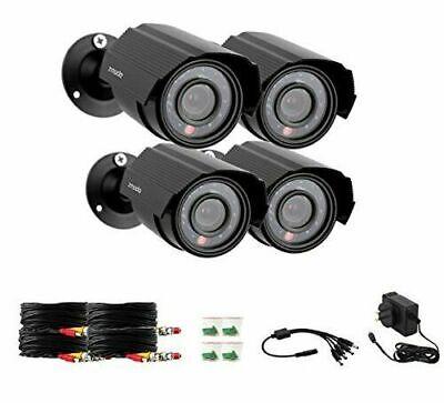 Zmodo 4-Pack Analog CCTV 700TVL HD Motion Bullet Security Cameras w/Night Vision