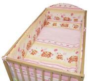 Pink Cot Bumper Set