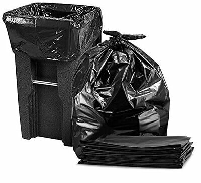 95-96 Gallon Garbage Can Liners Large Black Trash Bags 25/Case 61