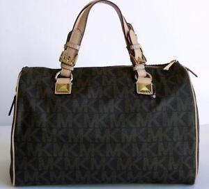 black and gray michael kors bag 2tin  Michael Kors Handbag Grayson Large