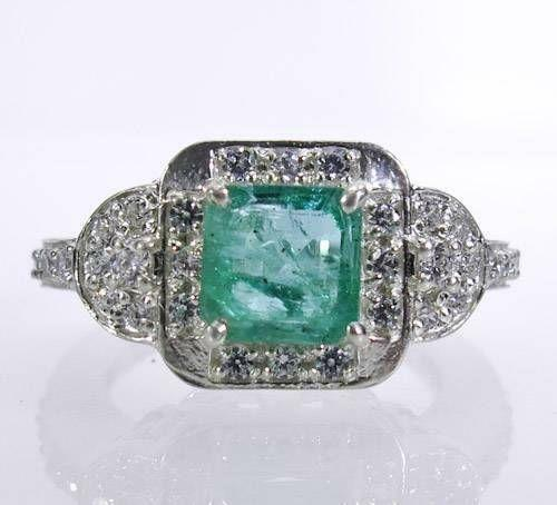 genuine emerald ring ebay